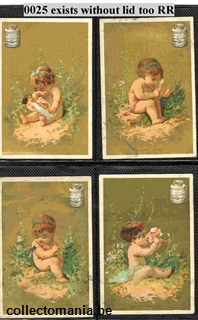 Chromo Trade Card 0025 alike Liebig see scan Babies Baby