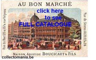 Chromo Trade Card AU BON MARCHE cat