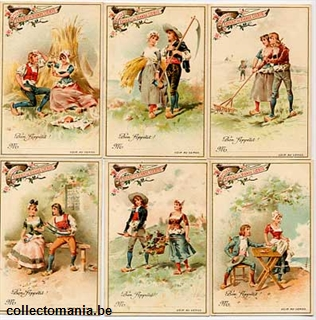 Chromo Trade Card T10 th and Girl in the Country 1894